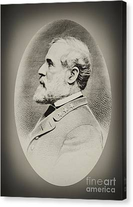 Robert E Lee - Csa Canvas Print by Paul W Faust -  Impressions of Light
