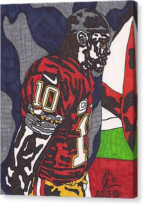 Robert Griffin IIi 3 Canvas Print by Jeremiah Colley