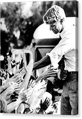 Robert Kennedy Shaking Hands Canvas Print by Everett