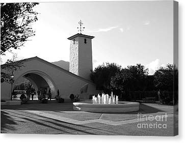 Robert Mondavi Napa Valley Winery . Black And White . 7d9029 Canvas Print by Wingsdomain Art and Photography