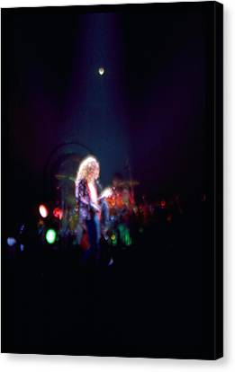 Robert Plant Led Zeppelin Canvas Print by Kevin Cable