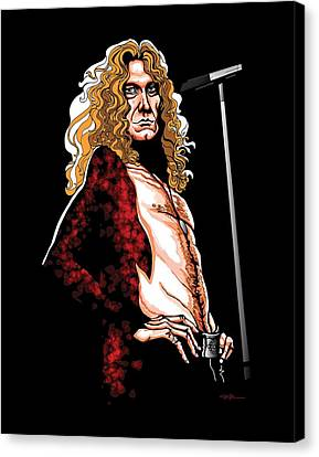 Robert Plant Of Led Zeppelin Canvas Print by GOP Art