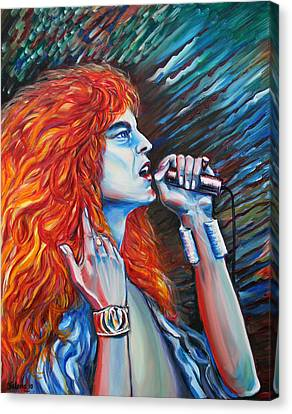 Robert Plant  Canvas Print by Yelena Rubin