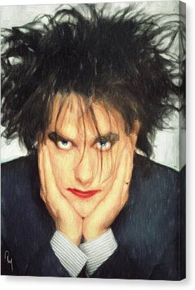 Robert Smith Canvas Print by Taylan Soyturk