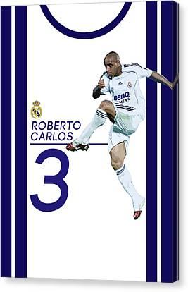 Roberto Carlos Canvas Print by Semih Yurdabak
