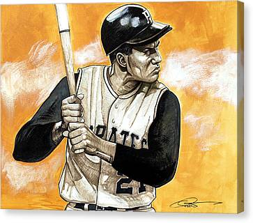 Roberto Clemente Canvas Print by Dave Olsen