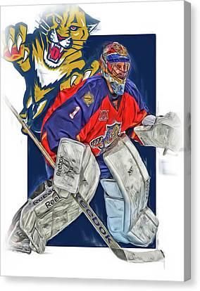 Roberto Luongo Florida Panthers Oil Art Canvas Print by Joe Hamilton