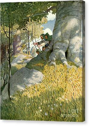 Robin Hood And His Companions Rescue Will Stutely Canvas Print by Newell Convers Wyeth
