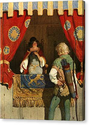 Robin Hood Meets Maid Marian Canvas Print by Newell Convers Wyeth