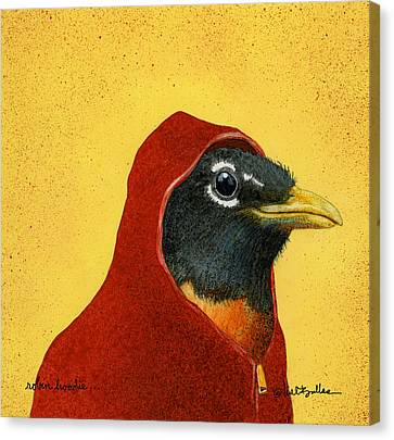 Robin Hoodie... Canvas Print by Will Bullas