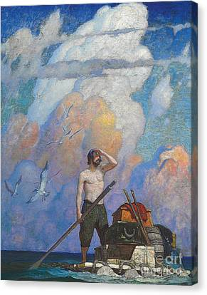 Robinson Crusoe Canvas Print by Newell Convers Wyeth