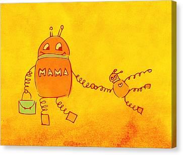 Robomama Canvas Print by Boriana Giormova
