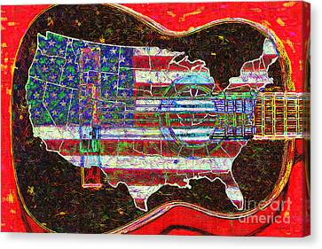 Rock And Roll America 20130123 Red Canvas Print by Wingsdomain Art and Photography