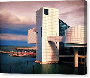 Rock And Roll Hall Of Fame Canvas Print by Shawna Rowe