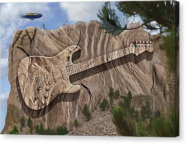 Rock And Roll Park 2 Canvas Print by Mike McGlothlen