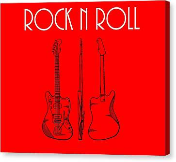 Rock And Roll Poster Canvas Print by Dan Sproul