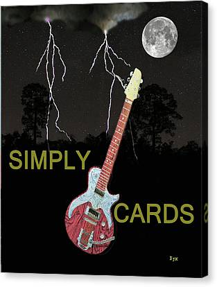 Rocks Canvas Print featuring the mixed media Rock Blues by Eric Kempson