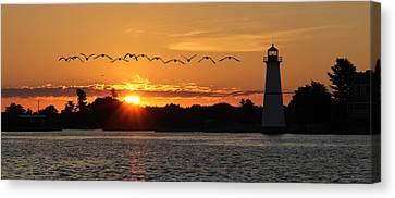 Rock Island Lighthouse Canvas Print by Lori Deiter