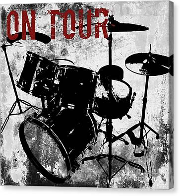 Rock N Roll Percussion  Canvas Print by Mindy Sommers