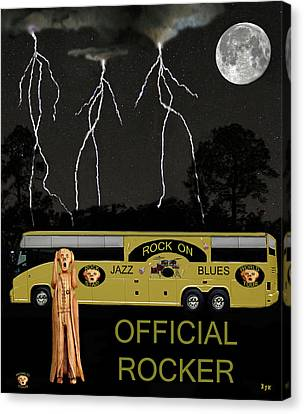 Rocks Canvas Print featuring the mixed media Rock N Roll Scream Tour by Eric Kempson