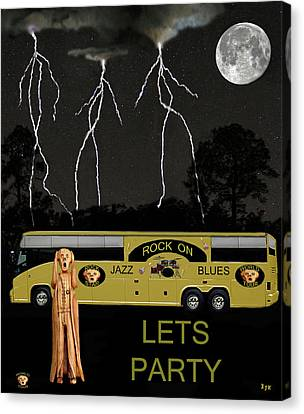Rocks Canvas Print featuring the mixed media Rock On Scream Tour by Eric Kempson