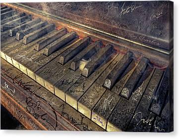 Rock Piano Fantasy Canvas Print by Mal Bray