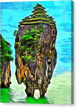 Rockhouse Island - Da Canvas Print by Leonardo Digenio