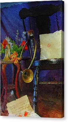 Rocking Chair And Horn No. 3 Canvas Print by Reid Hitzeman