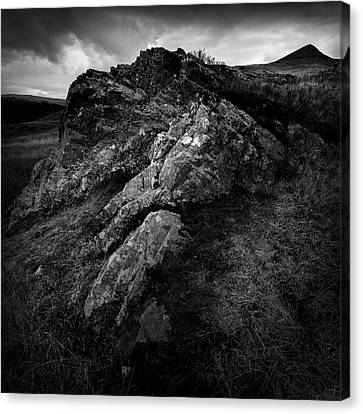 Rocks And Ben More Canvas Print by Dave Bowman