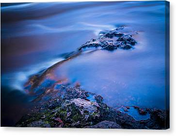 Rocks And Water Canvas Print by Marvin Spates