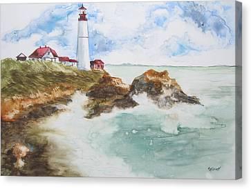 Rocky Coast Canvas Print by Marsha Elliott
