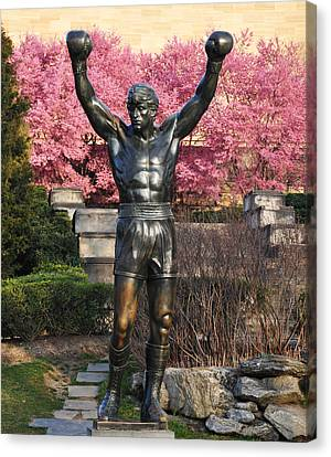 Rocky In Spring Canvas Print by Bill Cannon
