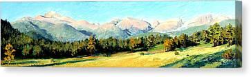 Rocky Mountain Panoramic Canvas Print by Mary Giacomini