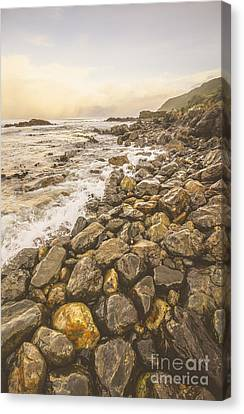 Rocky Seashore Scene  Canvas Print by Jorgo Photography - Wall Art Gallery