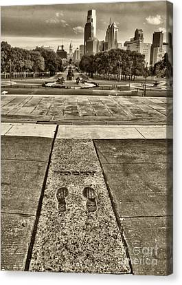 Rocky's Footprints Canvas Print by Jack Paolini