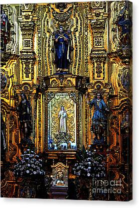 Splendor, Cathedral, Mexico City Canvas Print by Mexicolors Art Photography