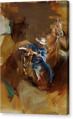 Rodeo 17 Canvas Print by Maryam Mughal