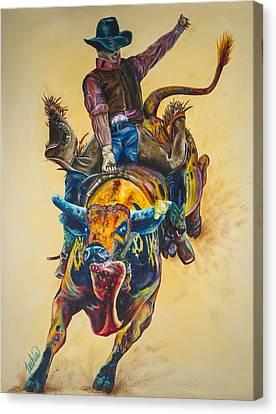 Rodeo Wild Canvas Print by Teshia Art
