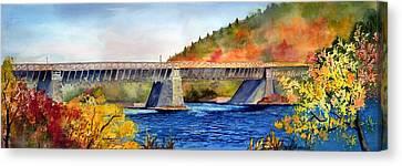 Roebling Aqueduct Bridge Canvas Print by Paul Temple