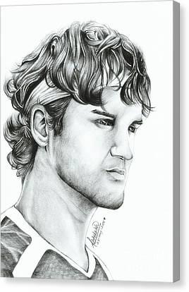 Roger Federer Canvas Print by Abhilekh Phukan