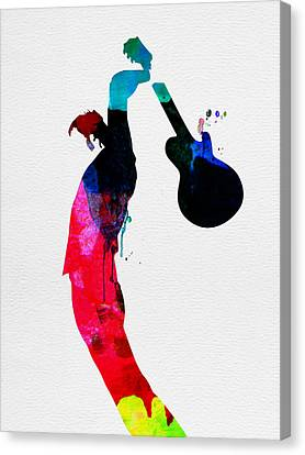 Roger Watercolor Canvas Print by Naxart Studio