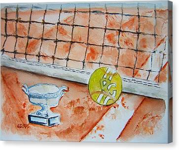 Roland Garros Canvas Print by Elaine Duras