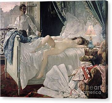 Rolla Canvas Print by Henri Gervex