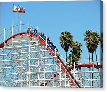 Roller Coaster Canvas Print by Connor Beekman