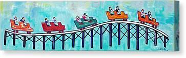 Roller Fun Canvas Print by Patricia Arroyo