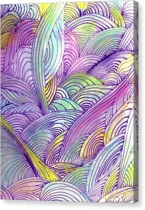 Rolling Patterns In Pastel Canvas Print by Wayne Potrafka