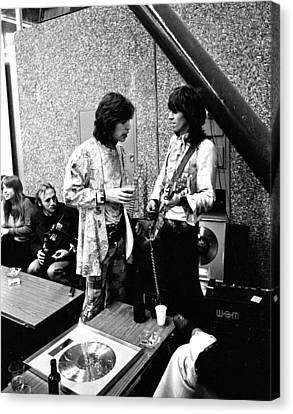 Rolling Stones 1970 Mick And Keith Canvas Print by Chris Walter