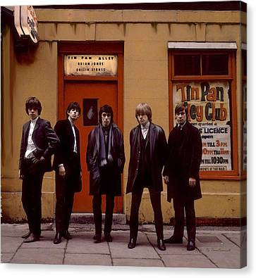 Rolling Stones Tin Pan Alley Brian Jones Canvas Print by Iconic Images Art Gallery David Pucciarelli