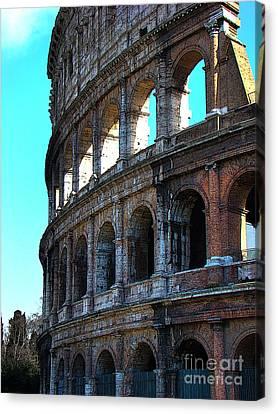 Roman Colosseum Iv Canvas Print by Al Bourassa