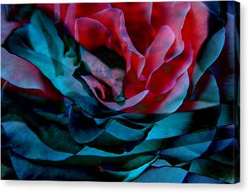 Romance - Abstract Art Canvas Print by Jaison Cianelli